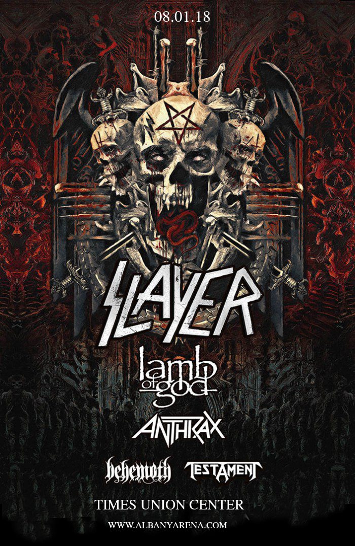 Slayer, Lamb of God & Anthrax at Times Union Center