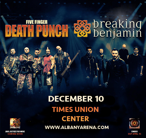 Five Finger Death Punch & Breaking Benjamin at Times Union Center