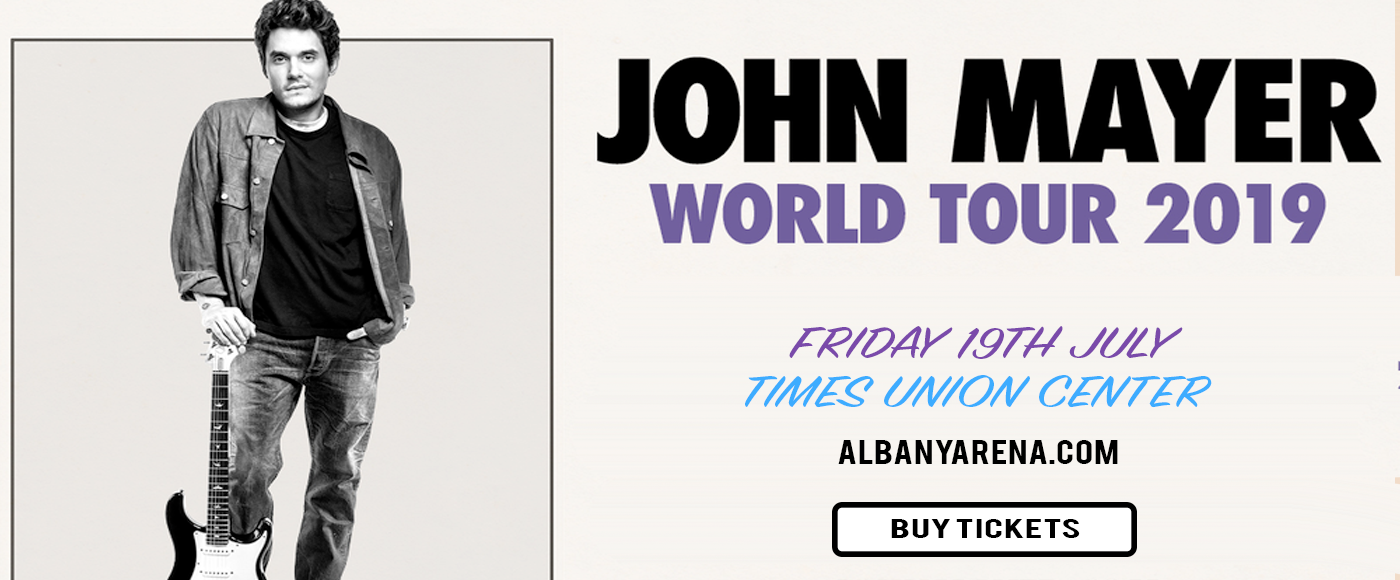 john mayer tickets 19th july times union center in albany new york. Black Bedroom Furniture Sets. Home Design Ideas